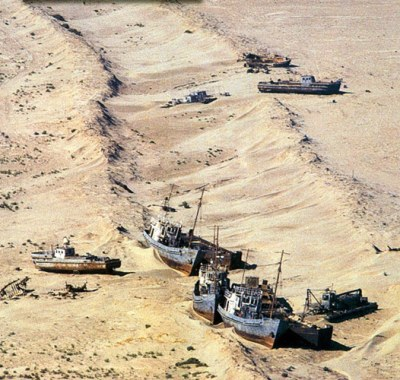 Aral Sea and Ships