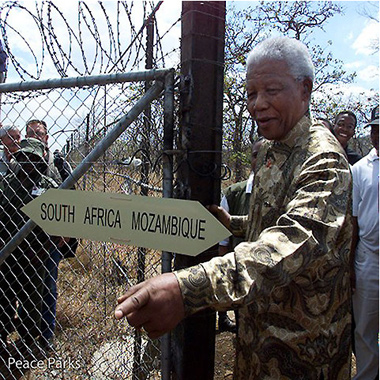 Opening the gate of Great Limpopo Transfrontier Park in 2001