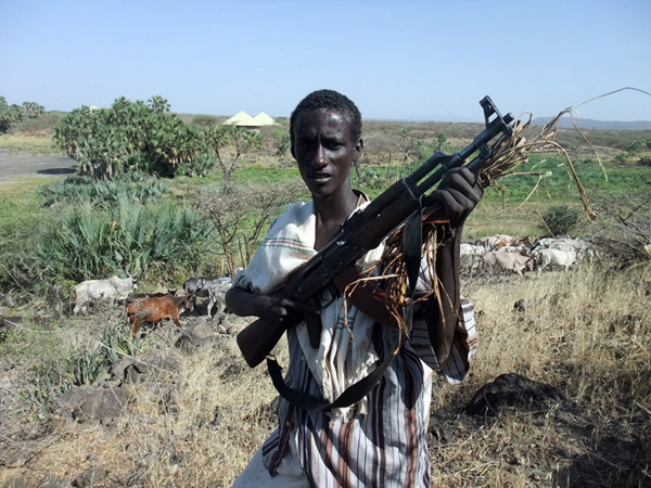 Afar herdsman in Awash National Park